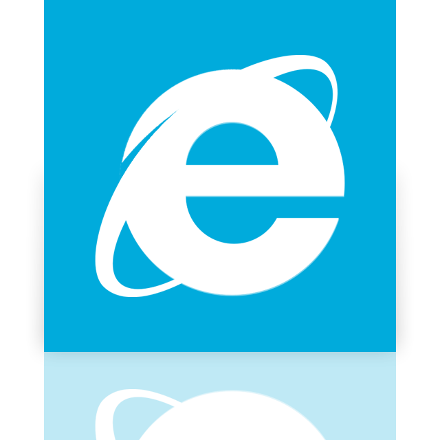 internet, explorer, mirror icon