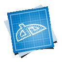 social, blueprint, deviantart icon