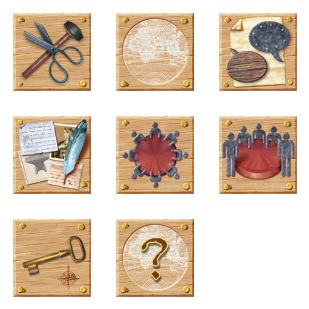 Wooden Web icon sets preview