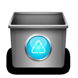 trash, blank, empty, recycle bin icon