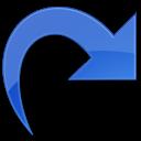 forward, white, redo, arrow, back icon