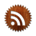 Badge, Feed, Rss, Wood icon