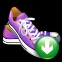 shoes, descending, decrease, fall, down, download, descend icon