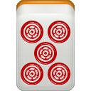dora, red, mahjong icon