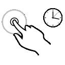finger, hold, gestureworks, one icon