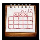 calendar, wooden icon