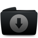 Black, Download, Folder icon