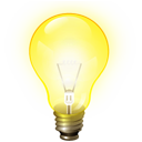 bulb, hint, tip, idea, light, brainstorm, energy icon