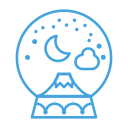 decoration, winter, decor, mountain, snow, snowglobe icon
