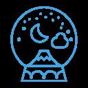 decoration, winter, decor, mountain, snow, snowglobe icon
