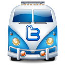 Blue, Twitter, Van icon