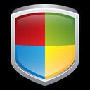 windows, security, shield, center icon