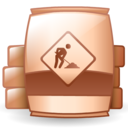 material, raw, under construction, barrel icon