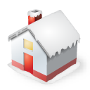 snow, house, christmas, home icon