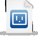 file, paper, document, blue icon