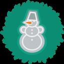 xmas, christmas, snowman, wreath icon
