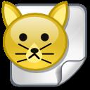 file, paper, document, gf, cat, animal icon