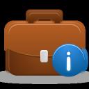 briefcase, info, business icon