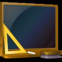 ordinateur,off,education icon