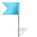 Map Marker Flag 4 Left Azure icon