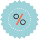 percentage, sale, discount, ecommerce, sign icon