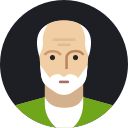 mature, avatar, man, grandfather, male, person, old icon