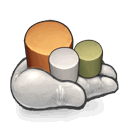 maybe, some, the, cylinder, holding, hand, made icon