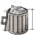 garbage, recycle bin, full, trash icon