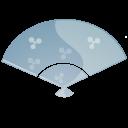 blue, fan icon