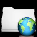 folder, white, web icon