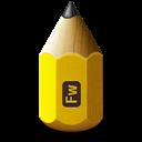 Adobe, Fireworks, Pencil icon
