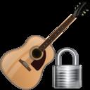 guitar,lock,instrument icon