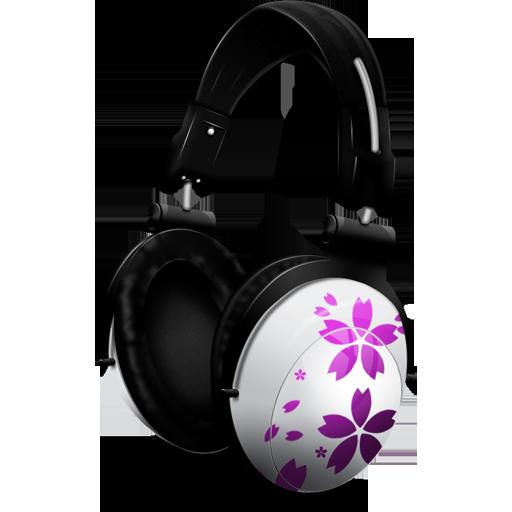 music, sakura icon