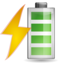 Status battery charging icon