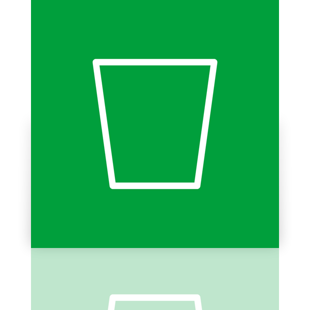 alt, empty, recycle, bin, mirror icon