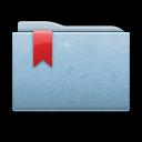 ribbon, folder, blue icon