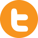 twitter, letter icon