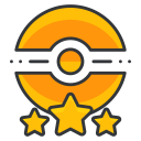 game, poke, star, pokemon, go, three, trainer icon
