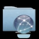 Folder Blue Globe Graphite icon