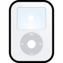 ipod,video,white icon