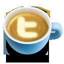 twitter, social, latte, 48 icon