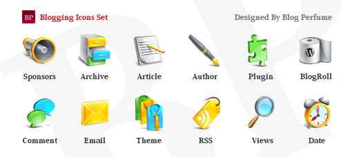set, blogging icon
