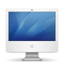 isight, inch, imac, with icon