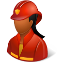 Dark, Female, Firefighter icon