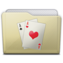 beige folder games icon