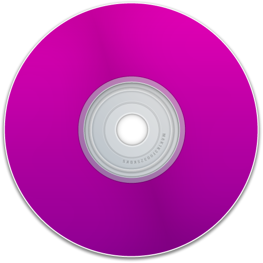 disk, cd, disc, empty, blank, dvd, purple, save icon