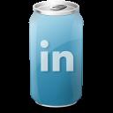 drink, linkedin icon
