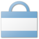 commerce, cart, blue, shopping cart, bag, shopping, buy icon