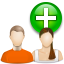 add, new, profile, add user, plus, human, account, people, group, user icon