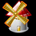 windmill, cartoon icon